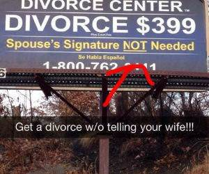 Divorce Without Telling funny picture