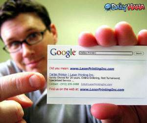 Google Business Card Picture