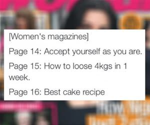 womens magazine logic funny picture