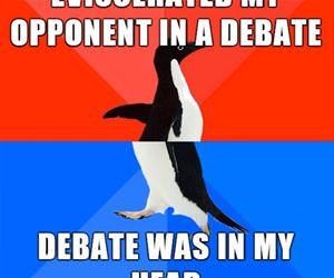 won the debate funny picture