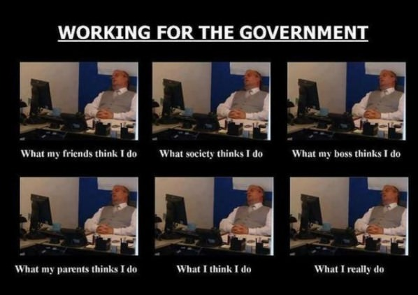 Government Employee funny picture