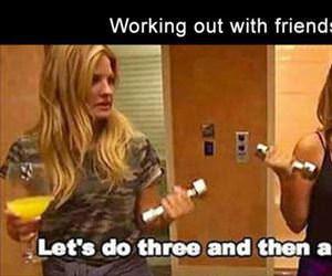 working out with friends