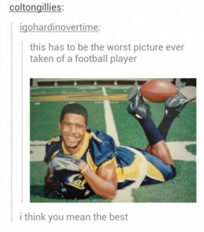 worst picture of a football player funny picture