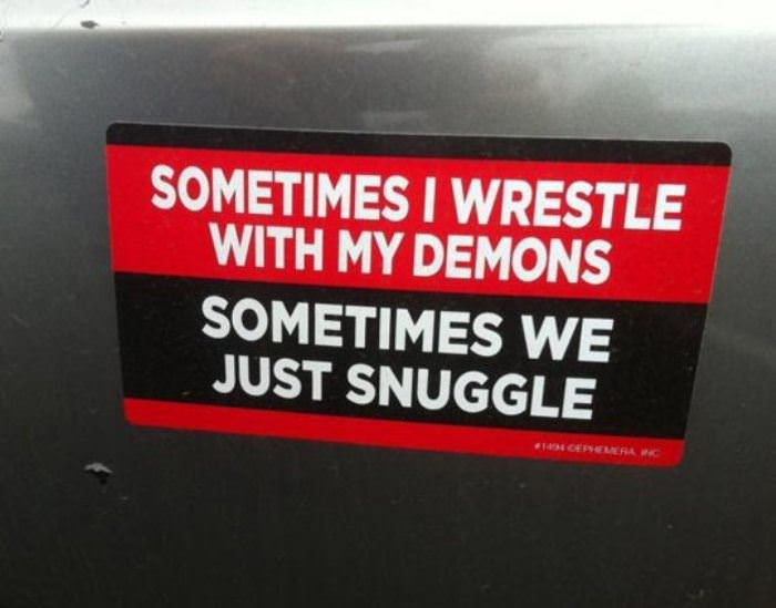 wrestling with my demons funny picture