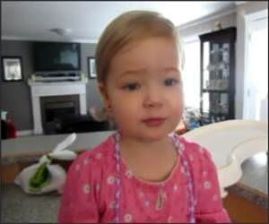 2 year old sings Adele Funny Video