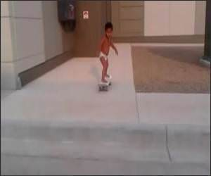 2 Year old skateboarder Funny Video