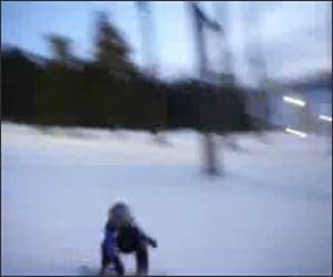 3 Year old Snowboarder Funny Video