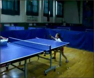 6 Year old ping pong