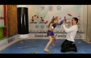 8 year old boxing girl Funny Video