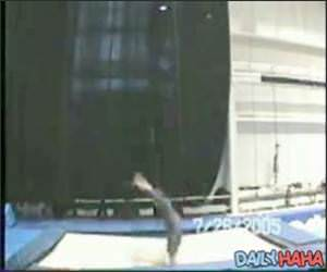 Amazing Trampoline Acrobatics Video