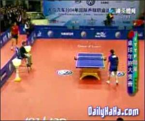 Amazing table tennis
