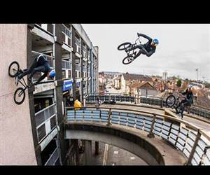 BMX with MASSIVE Bridge Gaps