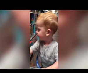 Cute Boy Loves the Toy Store Funny Video