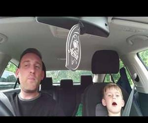 Dad and son sing Frank Sinatra Funny Video