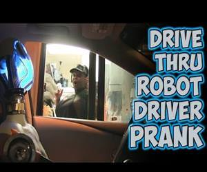 Drive Thru Robot Driver Prank Funny Video