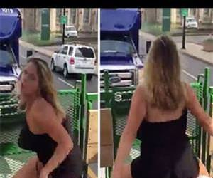 Drunk Girl Gives Handicap Shuttle Driver A Free Show Funny Video