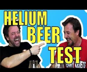 Helium Beer Test Funny Video