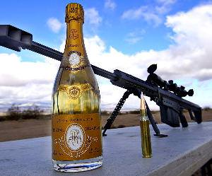 How To Uncork Cristal with a 50 Cal Funny Video