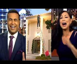 News Anchors Cannot Stop Laughing At Christmas Decoration Gone Wrong Funny Video