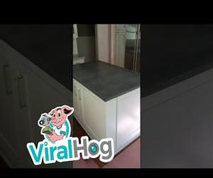 Secret Wine Cellar Under Kitchen Island Funny Video