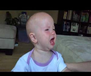 a baby crying in slow motion Funny Video