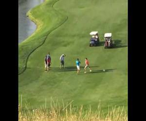 a fight on a golf course Funny Video