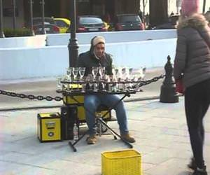 amazing glass street performer Funny Video