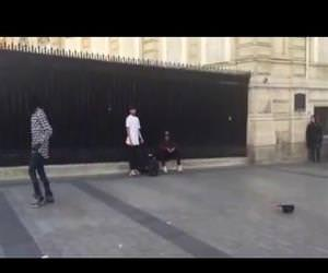 amazing moonwalking street performer Funny Video