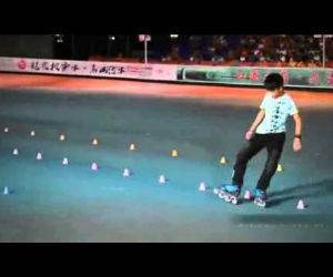 amazing rollerblader Funny Video