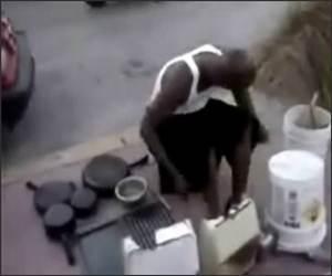 Amazing Bucket Drummer Video