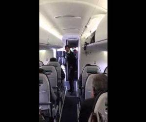 awesome flight attendant dance Funny Video