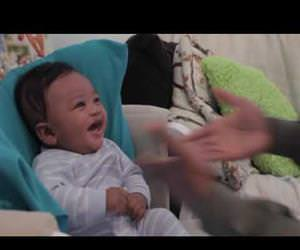 baby laughing at his father rapping Funny Video
