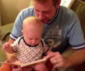 Baby loves this book Funny Video