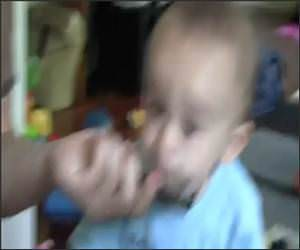 Baby Playing Harmonica Funny Video