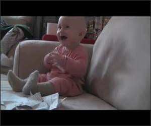Baby Ripping Paper Funny Video