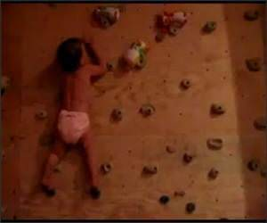 Baby Rock Climber Funny Video