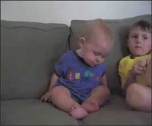 Baby Staying Awake Funny Video
