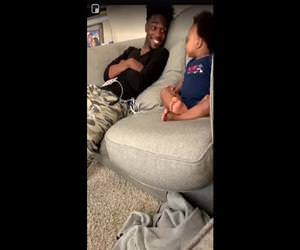 baby talking to his dad Funny Video