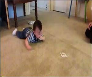 Baby Trying to Crawl Funny Video