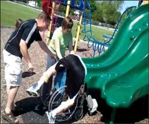 Sliding Into Wheelchair Video