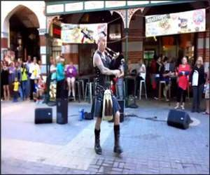 Bagpipe Thunderstruck Video
