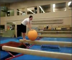 Balance Ball Balance Beam Video