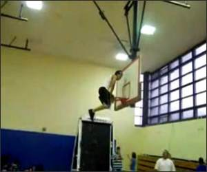 Basketball Hoop Backflip Video