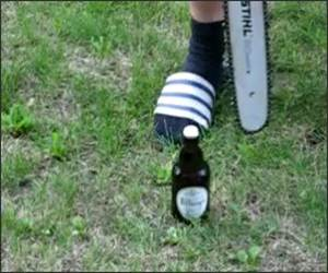 Chainsaw Beer Opener
