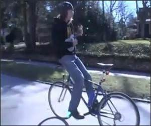 Bike and Ukelele Funny Video