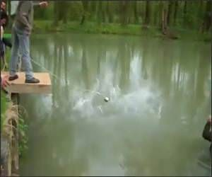 Bungee into the Lake Prank Video