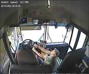 Bus Driver Crash Video