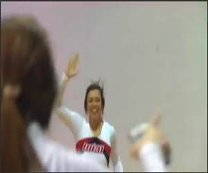 Cheerleader Half Court Shot Video