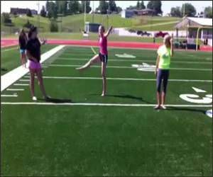 Cheerleader Face Kick Video