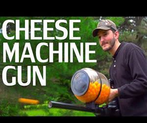 chees ball machine gun Funny Video